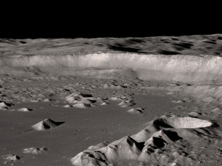 Antoniadi Crater near the lunar south pole