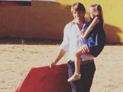 El Cordobés, toreando con su hija