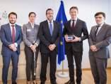 La delegación de la ONCE, en Bruselas