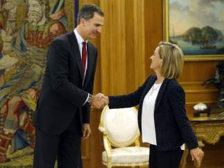 Felipe VI y Ana Oramas