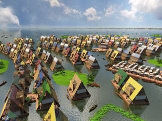 Design for water communities, Lagos, Nigeria by NLE