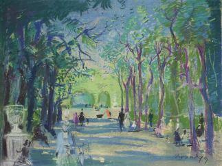 'Wien 13, Allee im Schönbrunnner Schlosspark', 1949