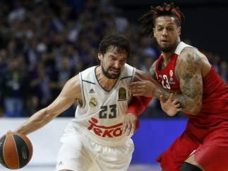 Llull y Hackett en el Madrid - Olympiacos