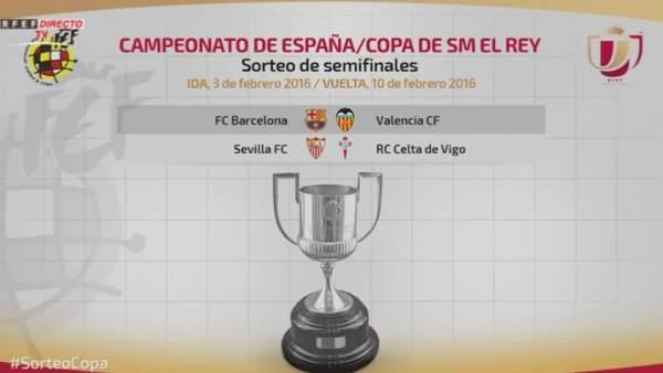 Sorteo semifinales Copa del Rey 2016