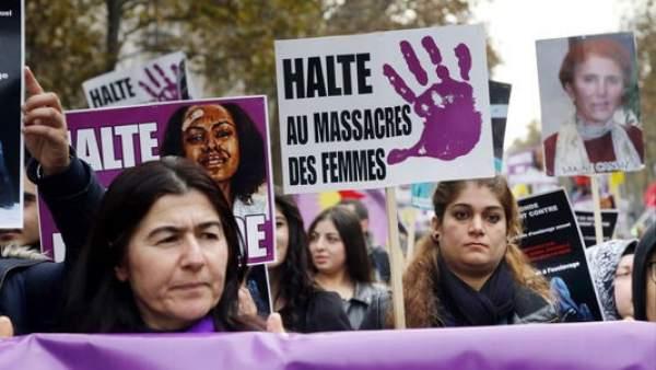 Manifestación de apoyo en París a Jaqueline Sauvage