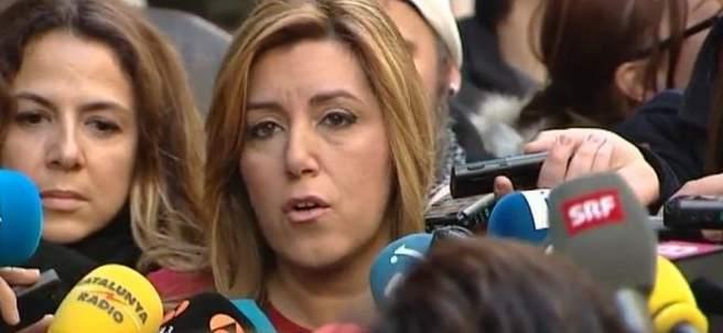Susana Díaz a su llegada al Comité Federal del PSOE