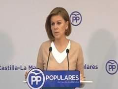 """Cospedal: """"No controlo lo que haga el PP de Madrid"""""""