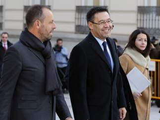 Josep María Bartomeu y Sandro Rosell