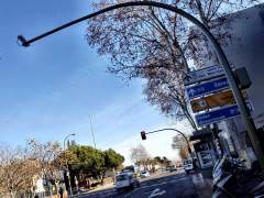 Punto de control de semáforo rojo
