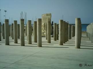 Monumento a las víctimas del holocausto nazi de Mauthausen en Almería.