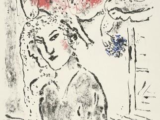 Autorretrato en la ventana, gris, 1957
