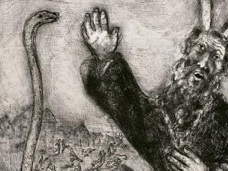 Moisés y la serpiente, 1956