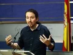 """Iglesias cree que """"más temprano que tarde"""" PSOE querrá negociar con Podemos"""