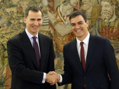El rey y Pedro Sánchez