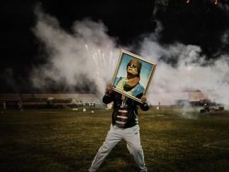 A Qaddafi supporter - Zawiyah, Libya. March 2011