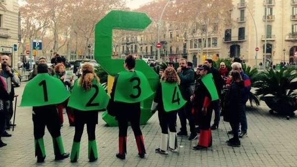 Manifestación de la PAH en Barcelona