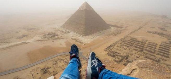 La pirámide de Keops desde su cima