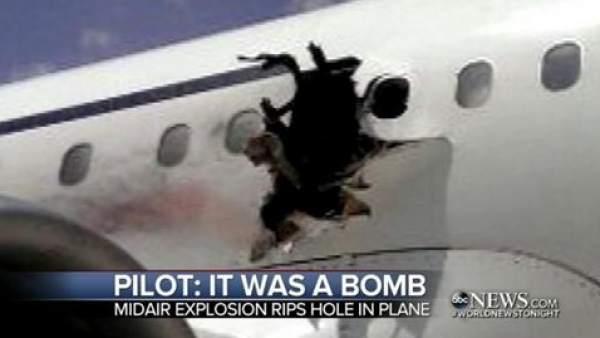 Explosión en un vuelo somalí