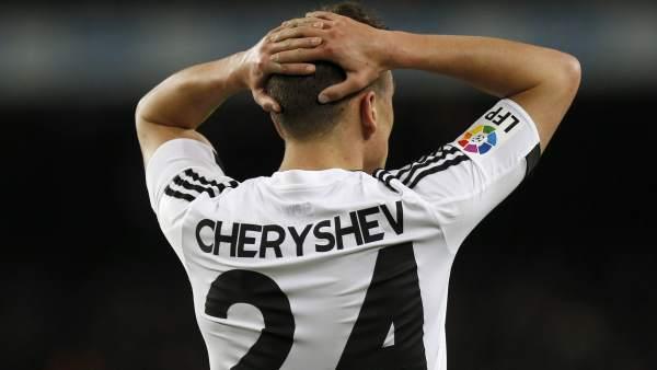 Cheryshev con el Valencia