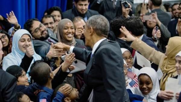 Obama mezquita Baltimore 2016.