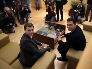 Buena sintonía entre Rivera y Sánchez