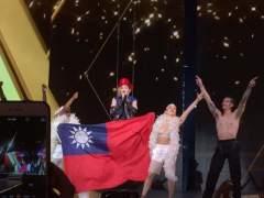 Madonna se envuelve en la bandera de Taiwán en su primer concierto en la isla