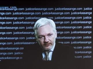 Julian Assange, en videoconferencia