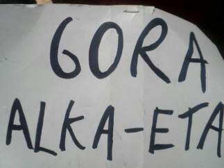 Cartel de 'Gora ETA'