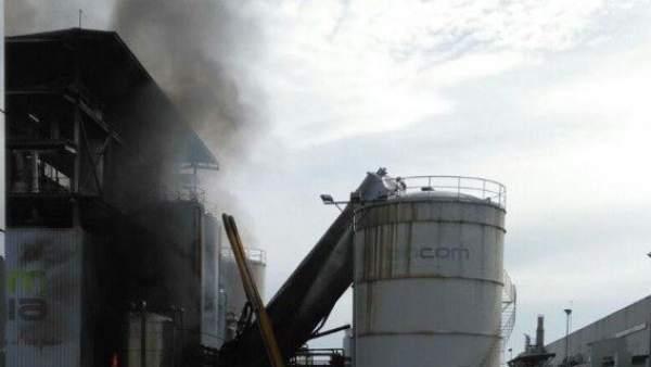 Incendio en una empresa de biodiesel