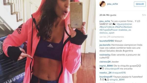 Paula Echevarría muestra su rutina de ejercicios