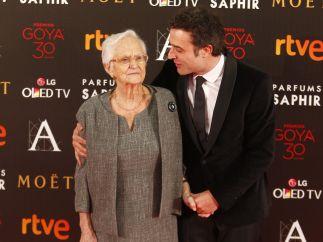 Daniel Guzmán y su abuela