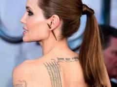Angelina Jolie y sus nuevos tatuajes budistas