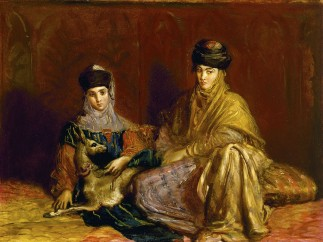 Théodore Chassériau - Woman and Girl from Constantine with a Gazelle, 1849