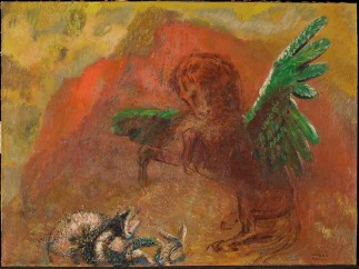 Odilon Redon - Pegasus and the hydra, after 1900