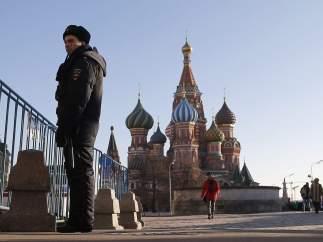 Guardia en la plaza Roja