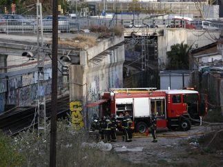 Incendio en una estación de Barcelona