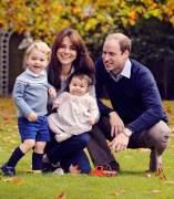 Los duques de Cambridge con sus hijos