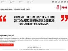 El PSOE abre una web sobre sus negociaciones para formar gobierno
