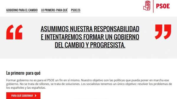 Página web PSOE para los ciudadanos