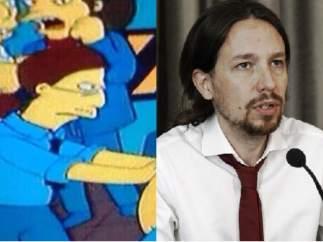Activista en Los Simpson - Pablo Iglesias