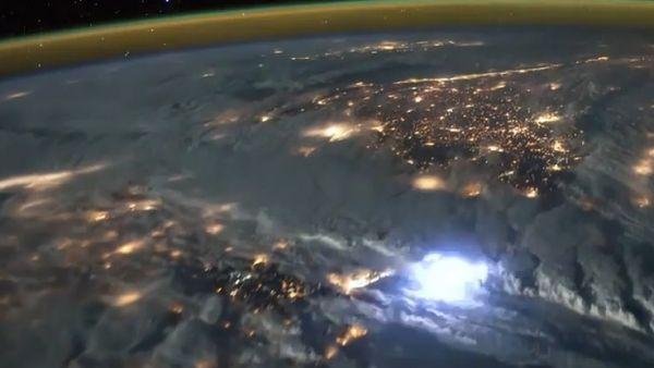Así se ven los rayos desde el espacio