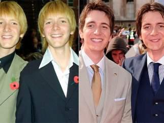 Fred y George Weasley - James y Oliver Phelps