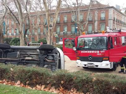 Accidente en el Paseo del Prado