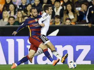 Gayá y Vidal en el Valencia - Barça