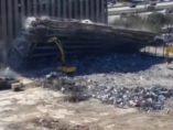 Demolición que casi acaba en tragedia
