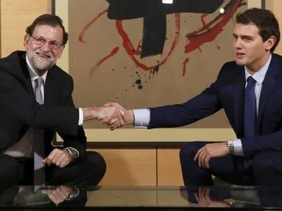 Rajoy y Rivera, reunidos en el Congreso