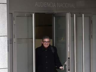 Jordi Pujol Ferrusola a la salida de la Audiencia Nacional