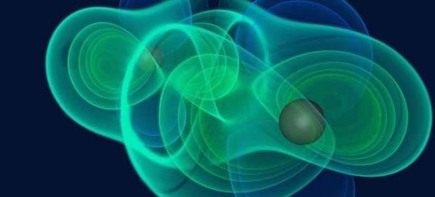 Recreación del aspecto de las ondas gravitacionales