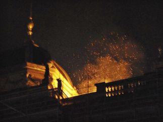 Incendio en el Museo Nacional de Praga