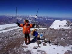 Dor Geta Popescu, niña rumana que logró hacer cumbre en el Aconcagua